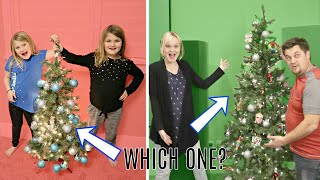 Who DECORATED the Best CHRISTMAS Tree?!