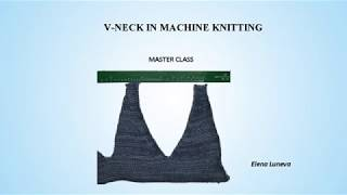 V-neck in machine knitting