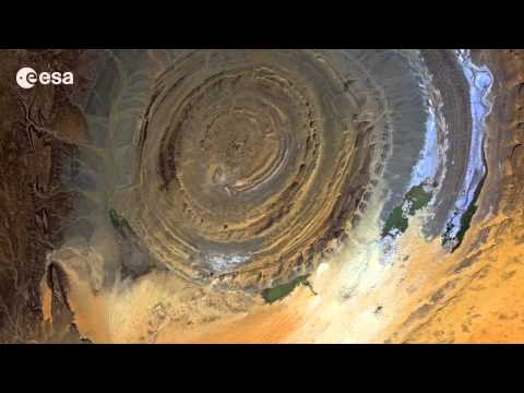 Richat structure, Mauritania   Desert bullseye