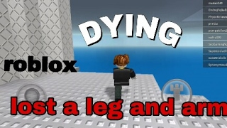 Dying so many times on(R) roblox..