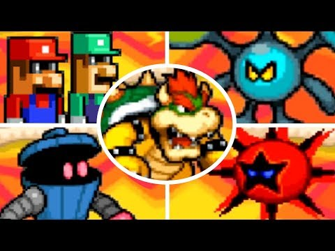 Mario & Luigi: Bowser's Inside Story - All X Bosses (No Damage)