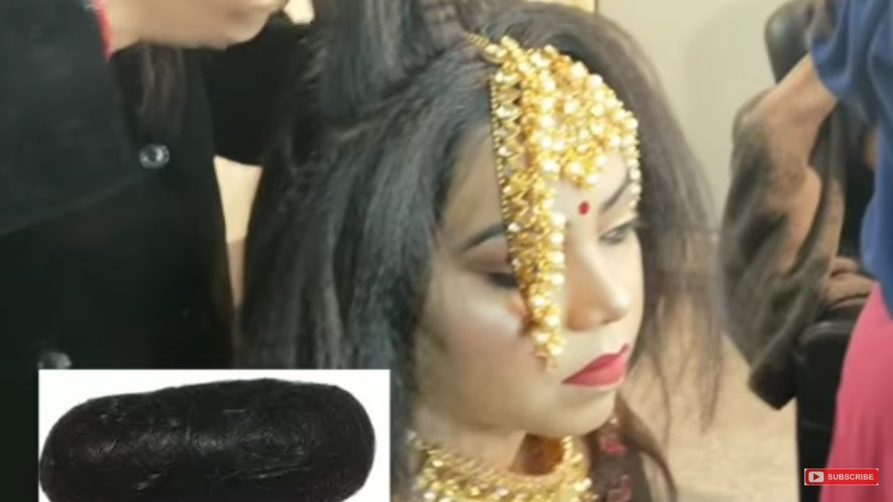 Easy Juda(जूड़ा) Bridal Hairstyle कैसे बनाये ! Beauty parlour - YouTube