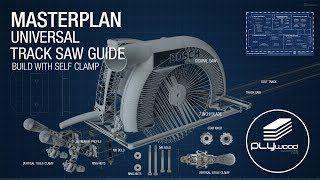 Master Plan DIY universal track saw guide with self clamps - Circular saw Jigsaw Router guide