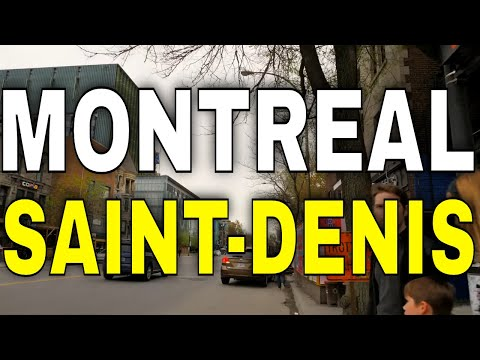 4K Montreal - Saint-Denis Street From North To South -【4K】