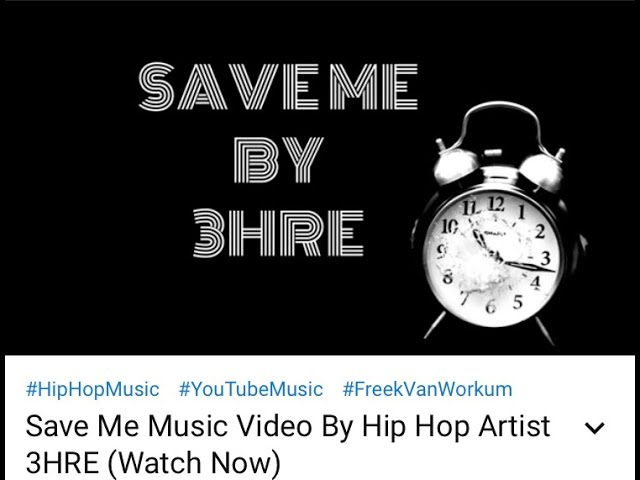 THROW AWAY YOUR SAVIOUR COMPLEX UNDER THE DIRECTION OF 3HRE'S RESOUNDING RNB HIP HOP SINGLE 'SAVE ME