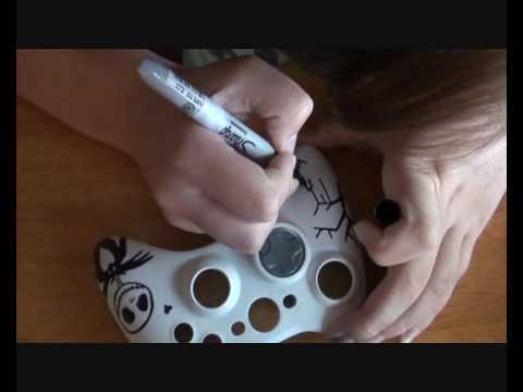 Custom Xbox 360 Controller - Jack Skellington themed (For Hannah)