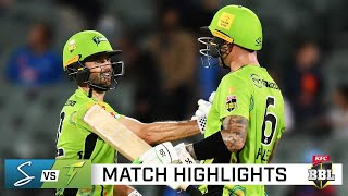 Thunder storm to victory over Strikers to reach BBL finals   KFC BBL 10