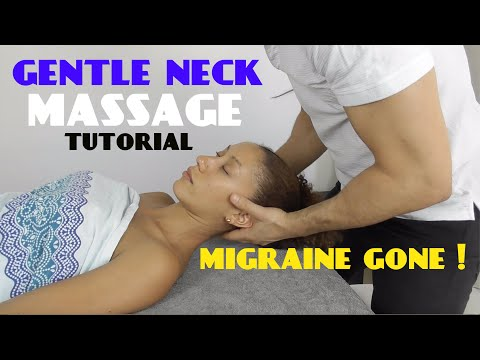 *STIFF and NECK PAIN Relief * after Relaxing Cervical Massage for MIGRAINE (ASMR)