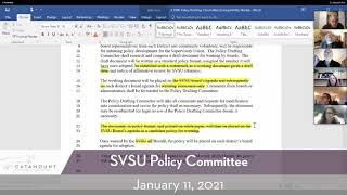SVSU Policy Committee // 1-11-21