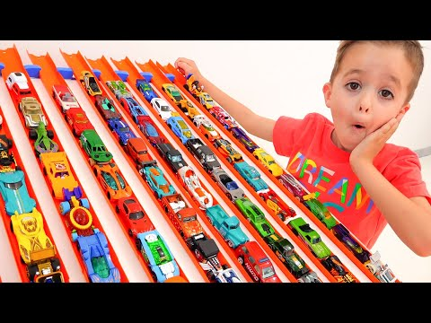 Nikita Have Fun With Toy Cars | Hot Wheels City
