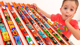 Nikita Have Fun With Toy Cars   Hot Wheels City