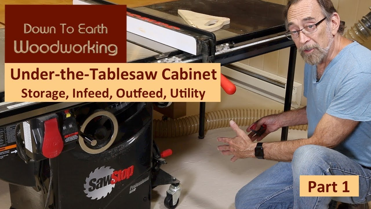 Under Table Saw Storage Cabinet Part 1 Youtube