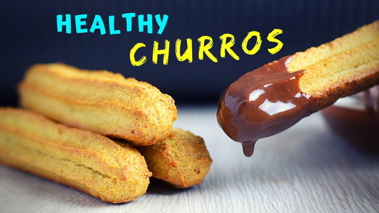 Easy Baked Churros (much HEALTHIER, made with oats!)