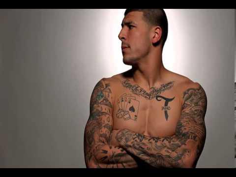 Aaron hernandez tattoos blood youtube for Blue blood tattoo