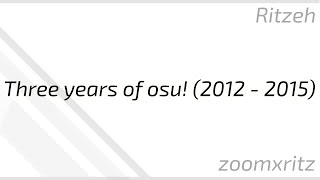 Progression on osu! from 2012 to 2015