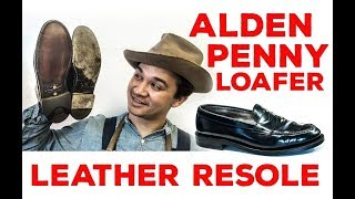 Alden Penny Loafers Resole #44