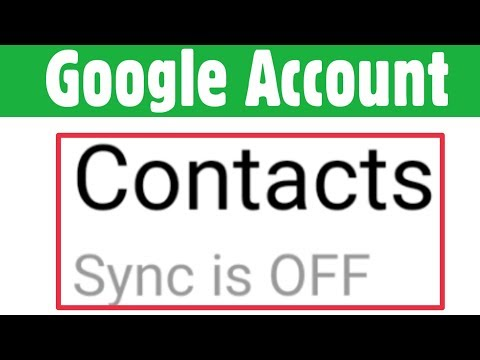 Google & Gmail Account Added Contact Not Showing In Mobile | Google Account Sync Is Off Problem