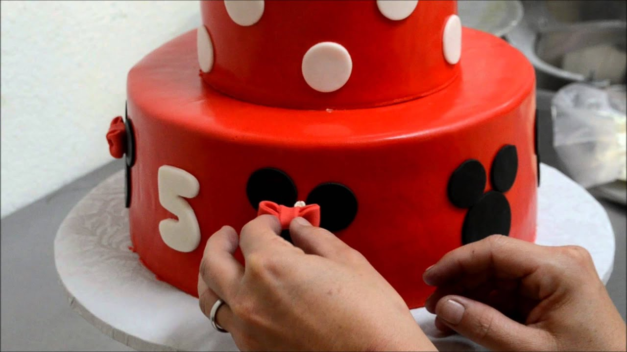 How to make decorate a Mini Mouse cake YouTube