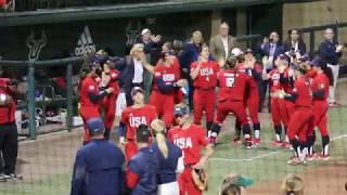 Mayor Castor First Pitch Team USA v USF Softball