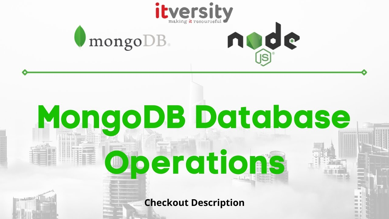 MongoDB Database Operations - Document and Collection - YouTube