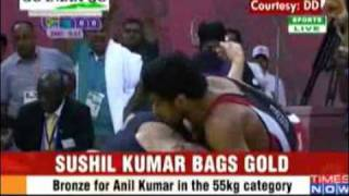 Sushil Kumar  wrestler won gold Medal for India in Commonwealth Games 2010 Delhi