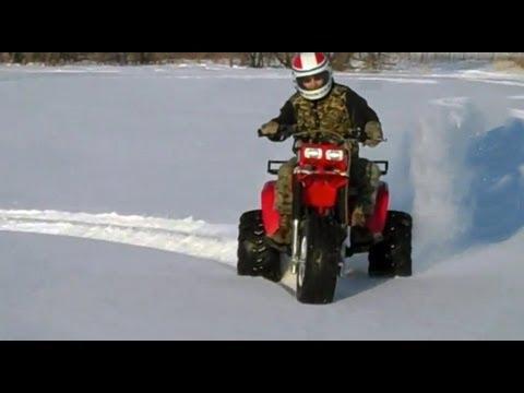 awesome atv 3 wheeler 350x atv in snow youtube awesome atv 3 wheeler 350x atv in snow sciox Image collections
