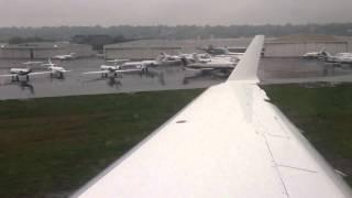 Bombardier Challenger 300 Landing Teterboro, New Jersey