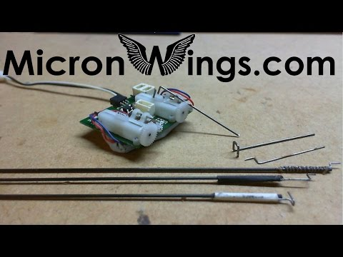 Micro RC Control Linkages and Pushrods