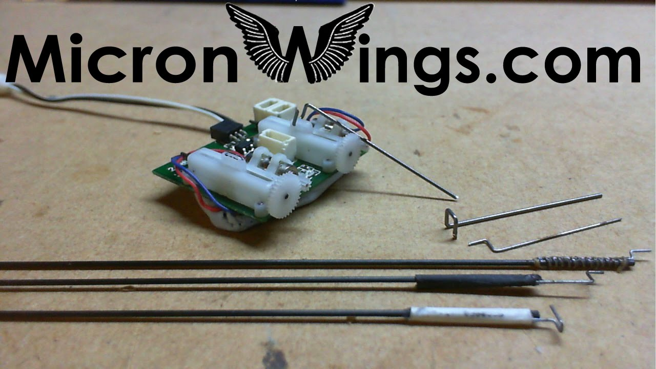 Micro Rc Control Linkages And Pushrods Youtube