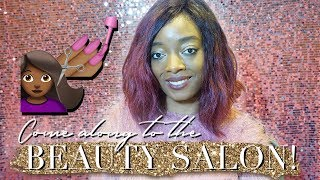 COME WITH ME TO THE BEAUTY AND HAIR SALON - VLOG