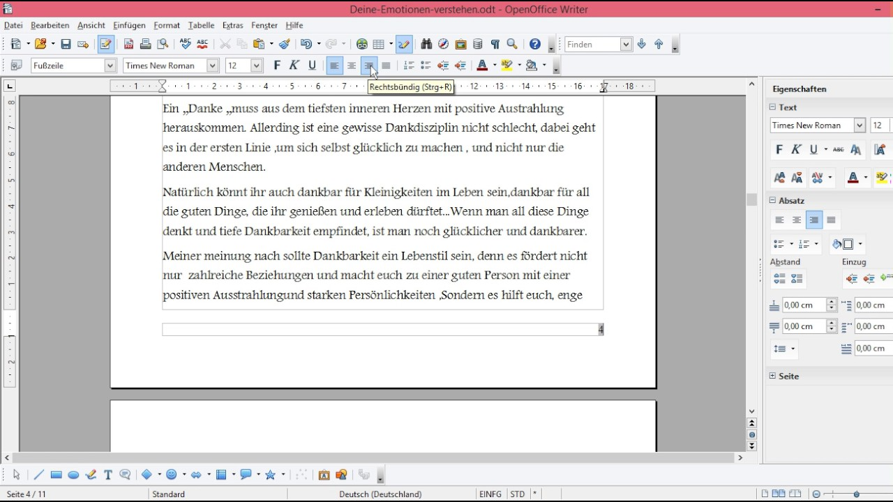 Seitenzahl Ab Seite 3 Open Office