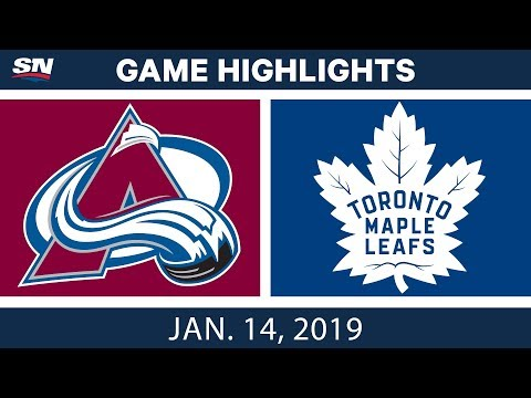 NHL Highlights | Avalanche vs. Maple Leafs - Jan. 14, 2019