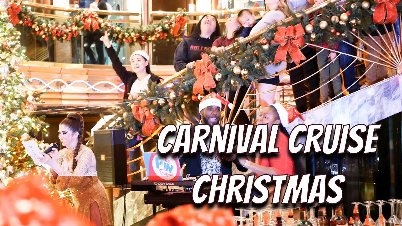 Carnival Conquest Christmas Devorations 2020 Carnival Cruise Christmas (4K)   YouTube