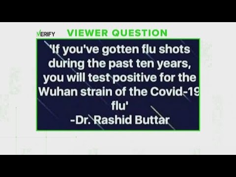 VERIFY: Getting a flu shot doesn't mean you'll test positive for COVID-19