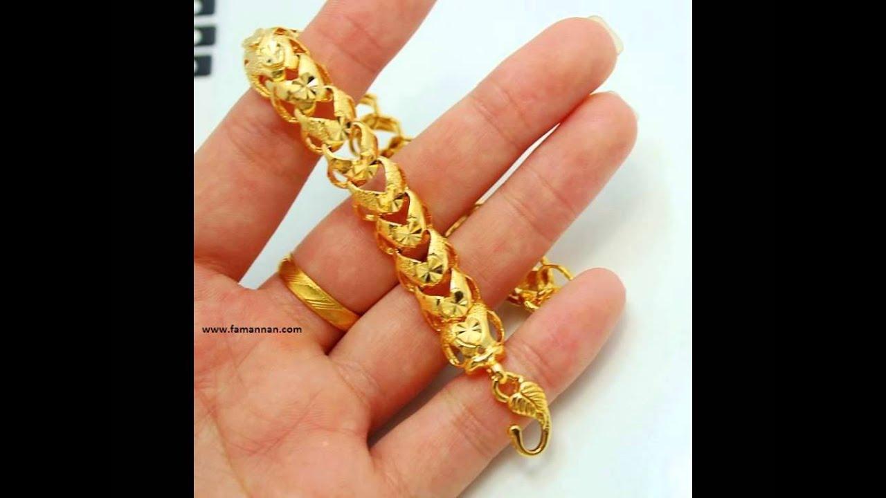 Men\'s New Fashion Gold Jewelry Ring Bracelet. - YouTube
