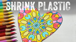 Shrink Plastic with Colored Pencils