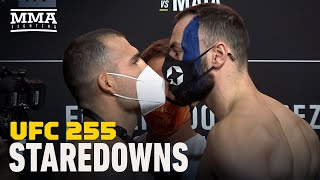 <b>UFC 255</b> Weigh-In Staredowns - MMA Fighting