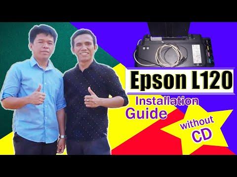 cara download dan instal driver printer epson L120.