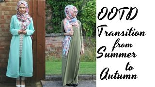 TWO OUTFITS | Transition from Summer to Autumn