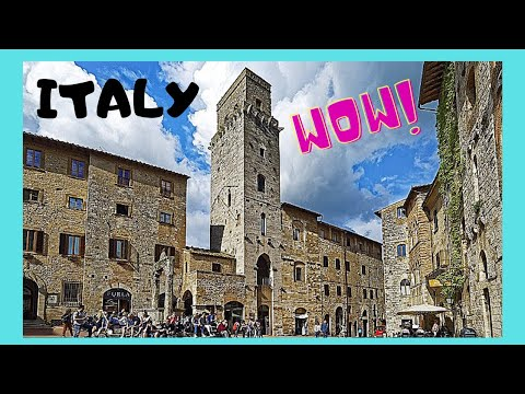 ITALY, the medieval TOWERS of SAN GIMIGNANO in TUSCANY
