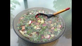 """Как приготовить холодный суп """"Окрошка"""""""