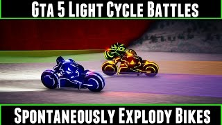 Gta 5 Light Cycle Battles Spontaneously Explody Bikes