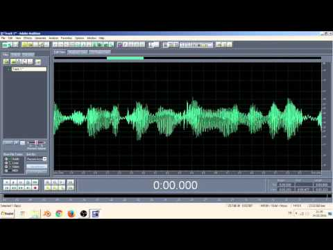 Adobe Audition ses kaydı alma