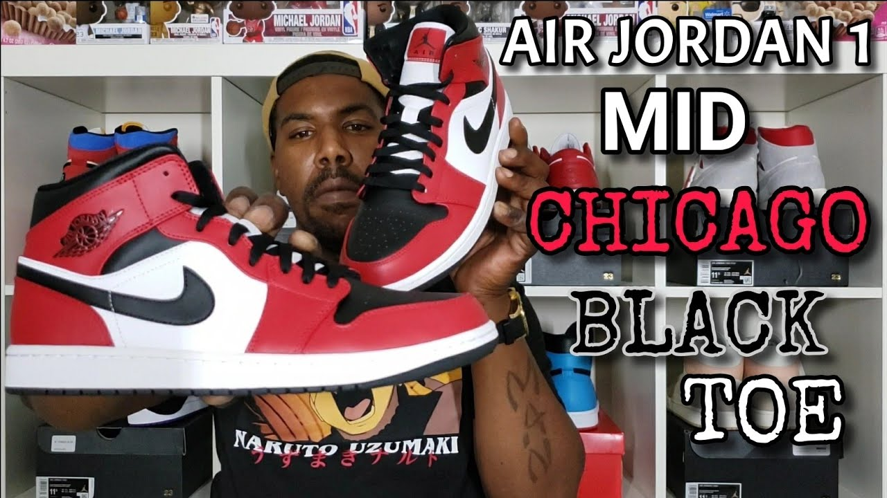 Air Jordan 1 Mid Chicago Black Toe Review And On Foot