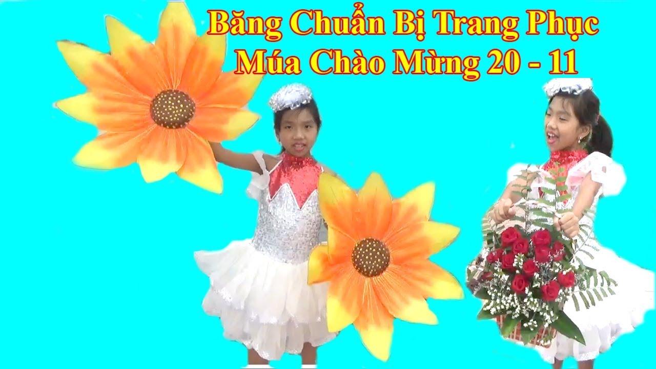 Băng Thuê Trang Phục Múa Chào Mừng Ngày Nhà Giáo Việt Nam 20 -11❤ Baby channel❤