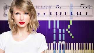 Taylor Swift - exİle (feat. Bon Iver) - Piano Tutorial + SHEETS