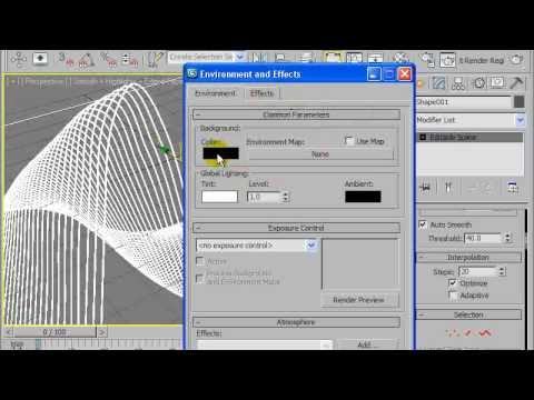 3ds max abstract lines tutorial youtube for Tutorial 3d max