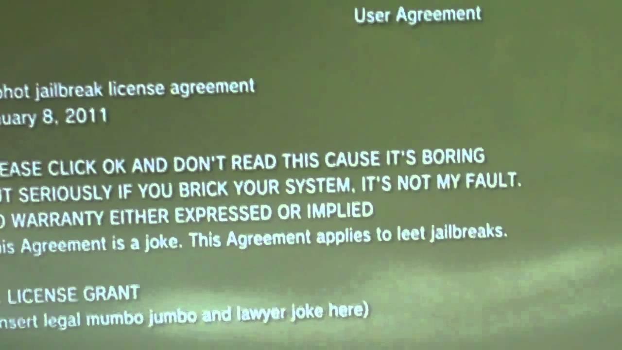 Geohot Jailbreak License Agreement Youtube