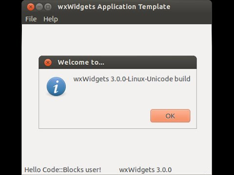 Create wxWidgets Project with Code::Blocks, with libwxgtk3.0-dev