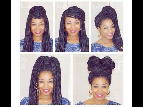 5 Quick Box Braid Hair Styles Natural Hair I Am Posh